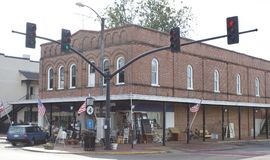 Holly Springs Mississippi Antique Store. Holly Springs is a city in Marshall County, Mississippi, United States. The population was 7,957 at the 2000 census. It Royalty Free Stock Image