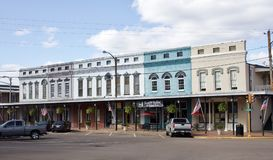 Holly Springs Mississippi City Center-Gebäude Lizenzfreies Stockfoto