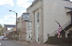 Holly Springs Mississippi Town Bank imagem de stock