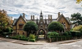 Holly Village, in Highgate, Londra del nord fotografie stock
