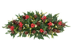 Holly and Winter Greenery Stock Photos