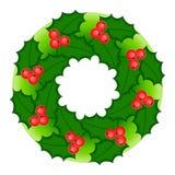 Holly wreath #1 Stock Photo