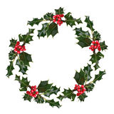 Holly Wreath Stock Images