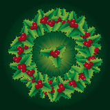 Holly wreath. Green Christmas decorations like holly wreath Royalty Free Stock Photo
