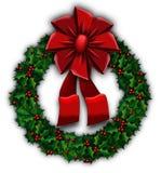 Holly wreath Royalty Free Stock Photo