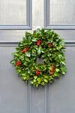Holly wreath Stock Photography