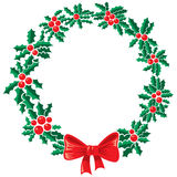 Holly wreath Stock Photos