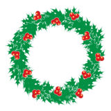 Holly wreath Stock Image