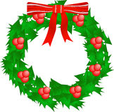 Holly wreath Stock Photography