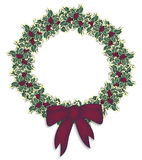 Holly Wreath Royalty Free Stock Images