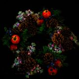 Holly Wreath Stockbild