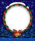 Holly wreath with bells Stock Images