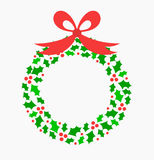 Holly wreath Royalty Free Stock Image