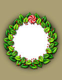 Holly wreath frame Stock Photography