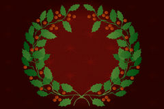 Holly Wreath Royalty Free Stock Photos