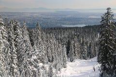 Hollyburn szczytu punkt widzenia na Vancouver mieście obrazy stock