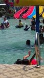 Travel. Hollyday in water park at pandeglang Royalty Free Stock Photo