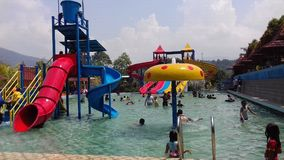 Travel. Hollyday in water park at pandeglang Royalty Free Stock Photography
