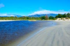 Hollyford, Nationalpark Fiordland lizenzfreie stockfotos