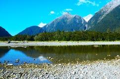 Hollyford, Nationalpark Fiordland lizenzfreie stockfotografie