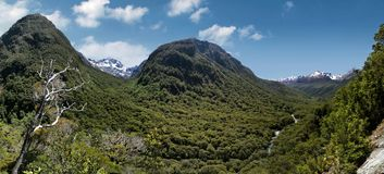 Hollyford Valley Lookout  (Pops View) Royalty Free Stock Photos