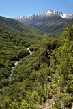 Hollyford Valley Lookout  (Pops View) at the Milford Road Stock Image