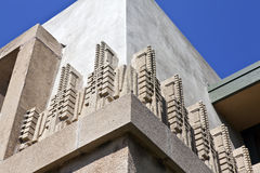 Hollyhock House Detail. LOS ANGELES - September 23: Frank Lloyd Wright's landmark Hollyhock House, owned by City of LA, survives despite budget shortfalls on Royalty Free Stock Photography