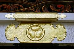 Hollyhock, the symbol of Tokugawa shoguns, Nikko,. The Tokugawa shogunate, also known as the Tokugawa bakufu and the Edo bakufu, was a feudal regime of Japan Stock Image