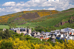 Hollyrood palace as seen from Calton Hill Royalty Free Stock Photos