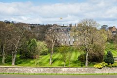 Hollyrood palace viewed from Hill in Edinburgh, Scotland,. UK Stock Image