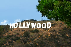 hollywood σημάδι Στοκ Εικόνα