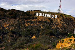 hollywood σημάδι Στοκ εικόνα με δικαίωμα ελεύθερης χρήσης