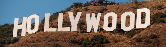 знак hollywood Стоковое Фото