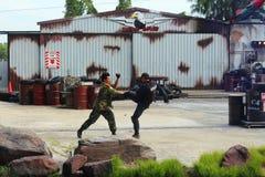 Hollywood Action. Dream World, Bangkok, Thailand Stock Images