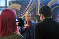 Hollywood actor actor John Savage at Moscow International Film Festival Royalty Free Stock Photos