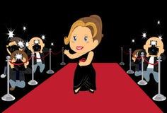 Hollywood Actress 2. Hollywood actress posing in red carpet Royalty Free Stock Photos