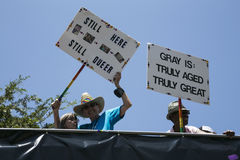 Hollywood ad ovest, Los Angeles, California, U.S.A., il 14 giugno 2015, quarantesimo gay annuale Pride Parade per la Comunità di  Immagini Stock