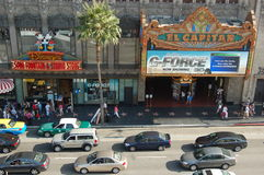 Hollywood: Ansicht des Wegs des Ruhmes Lizenzfreie Stockfotos