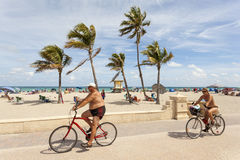 Hollywood Beach Broad Walk, Florida Stock Image