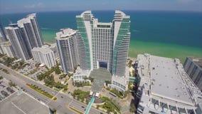 Hollywood Beach buildings stock video
