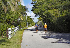 Hollywood Beach Fitness Trail Royalty Free Stock Photos