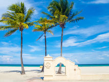 Hollywood Beach in Florida on a summer day Royalty Free Stock Photo