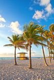 Hollywood Beach near Miami Florida Stock Photos