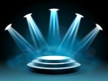 Hollywood belysningetapp för kapacitet stock illustrationer