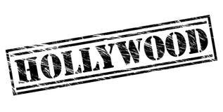 Hollywood black stamp Stock Photo