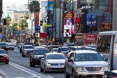 Hollywood Blvd arkivfoton
