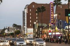 Hollywood Blvd arkivbild