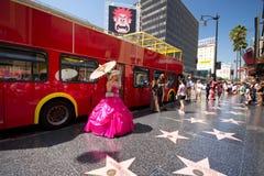 Hollywood Blvd CA royaltyfri bild