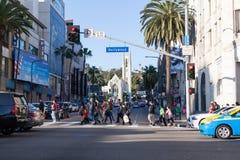 Hollywood Blvd Crosswalk Stock Images