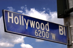 Hollywood Blvd Sign Royalty Free Stock Photo